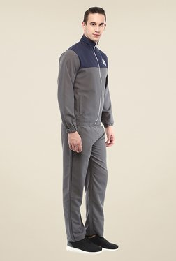 Yepme Patrick Grey & Navy Solid Tracksuit