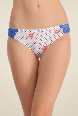 Clovia Cream Printed Bikini Panty - Mp000000000745495