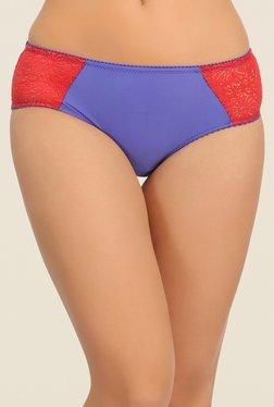 Clovia Purple Lace Bikini Panty