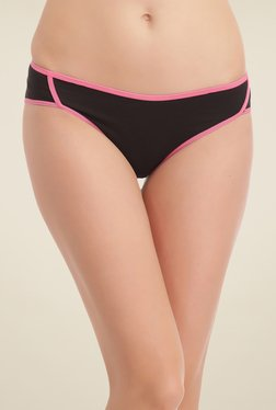 Clovia Black Solid Bikini Panty - Mp000000000745992