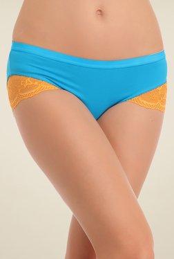 Clovia Turquoise Lace Bikini Panty