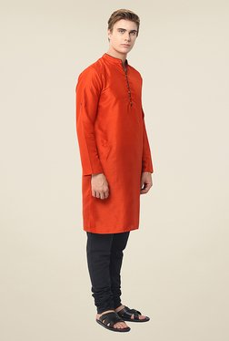 Yepme Diego Orange Solid Kurta