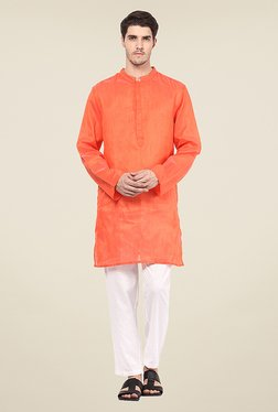 Yepme Wright Orange Textured Kurta