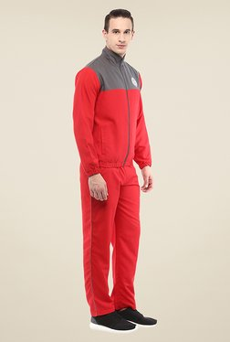 Yepme Patrick Red & Grey Solid Tracksuit