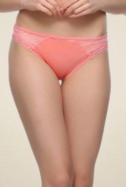 Clovia Peach Lace Bikini Panty