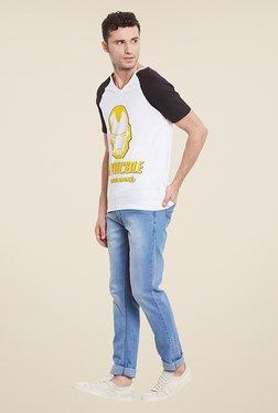 Yepme Marvel Invincible Iron Man White Printed T Shirt
