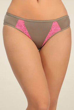 Clovia Brown Lace Bikini Panty - Mp000000000747715