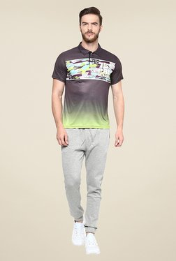 Yepme Issac Grey Graphic Print T Shirt