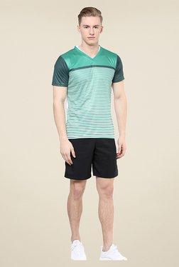 Yepme Eldon Green Striped T Shirt