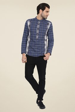 Yepme Craig Blue Checks Kurta Shirt