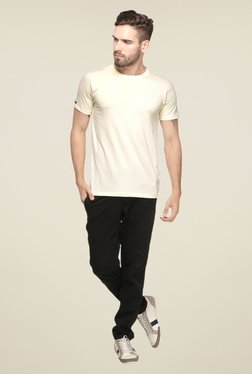 Mode Vetements Cream Solid T Shirt