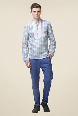 Yepme Hector Blue Checks Kurta Shirt