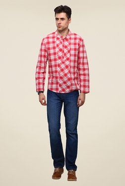 Yepme Wincon Red Checks Kurta Shirt
