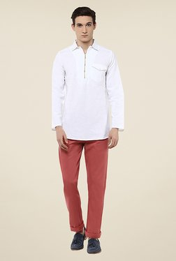 Yepme Sanford White Solid Kurta Shirt