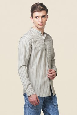 Yepme Barrick Ecru Striped Shirt