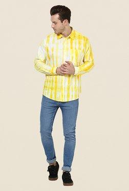 Yepme Victor Yellow & White Printed Shirt