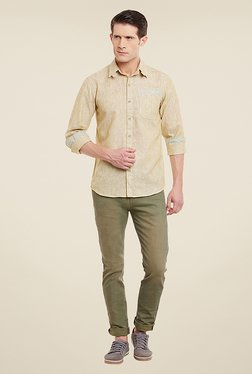 Yepme William Yellow Striped Shirt