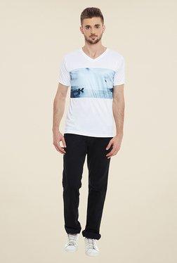 Yepme Wendell White Printed T Shirt