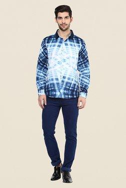Yepme Morris Blue & White Printed Shirt