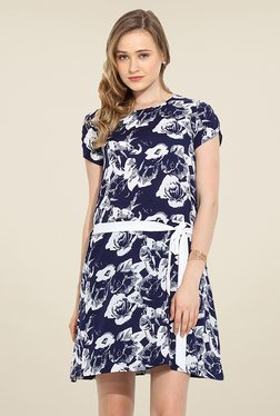 Trend Arrest Navy Floral Print Dress