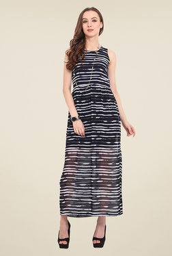 Trend Arrest Navy Printed Maxi Dress