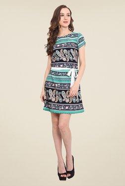 Trend Arrest Turquoise Paisley Print Dress