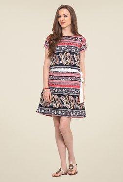 Trend Arrest Coral Paisley Print Dress