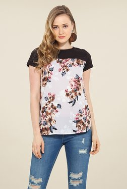 Trend Arrest White Floral Print Top