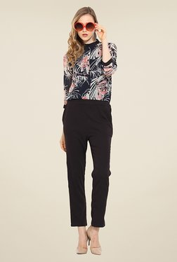 Trend Arrest Black Printed Jumpsuit