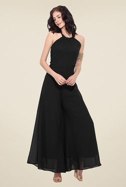 Trend Arrest Black Solid Jumpsuit