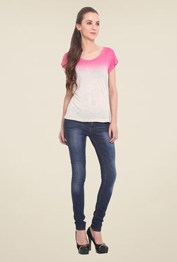 Trend Arrest Pink & Grey Ombre Top
