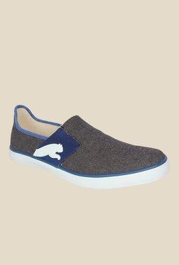 Puma Lazy II DP Grey & Blue Slip-Ons