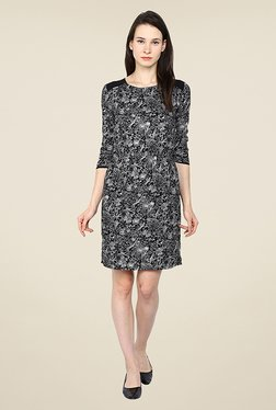 Arrow Black Floral Print Dress