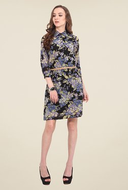 Trend Arrest Black Floral Print Dress