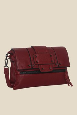 Toniq Maroon Strap Up Sling Bag