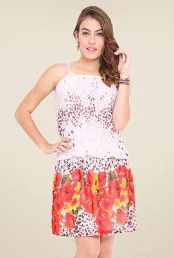 Trend Arrest Off White Floral Print Dress