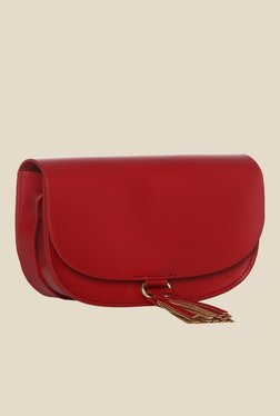 Toniq Red Tassel Sling Bag