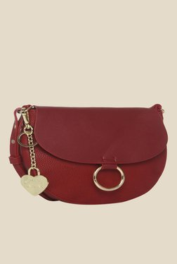 Toniq Who'S There Maroon Sling Bag