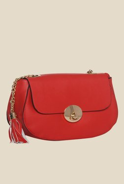 Toniq Red Side Fringe Sling Bag