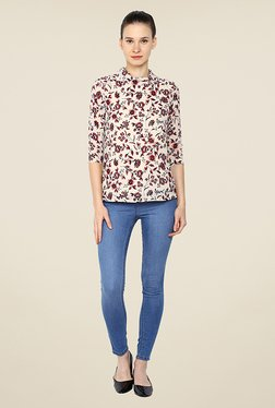 Arrow Off White Floral Print Top