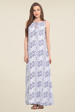 Trend Arrest Off White Floral Print Maxi Dress