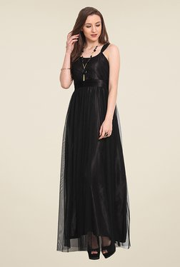 Trend Arrest Black Lace Maxi Dress