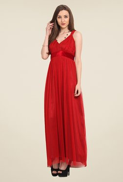 Trend Arrest Red Lace Maxi Dress