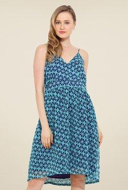 Trend Arrest Blue Geometric Print Dress