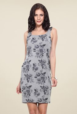Trend Arrest Grey Floral Print Dress