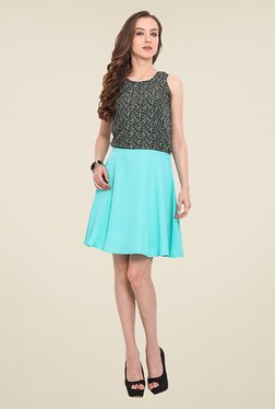 Trend Arrest Turquoise Printed Dress