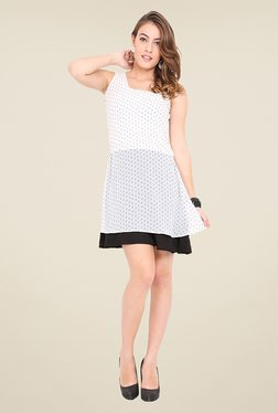 Trend Arrest White Printed Dress