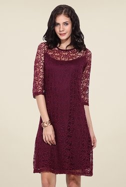 Trend Arrest Purple Lace Dress