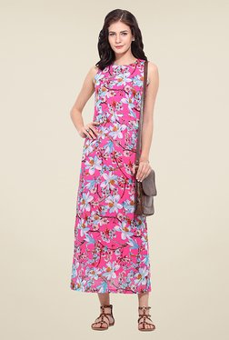 Trend Arrest Pink Floral Print Maxi Dress