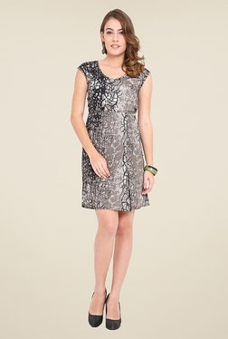 Trend Arrest Grey Printed Dress